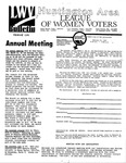 LWV Bulletin, February, 1989 by League of Women Voters of the Huntington Area
