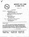 Huntington League of Women Voters, September, 1980
