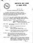 Huntington League of Women Voters, April 28, 1982