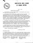 Huntington League of Women Voters, July 12, 1982