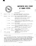 Huntington League of Women Voters, January 21, 1983
