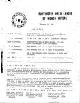 Huntington League of Women Voters, February 21, 1983