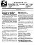 LWV Bulletin, February, 1997