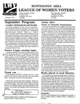 LWV Bulletin, September, 1995 by League of Women Voters of the Huntington Area