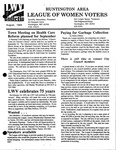 LWV Bulletin, August, 1994 by League of Women Voters of the Huntington Area