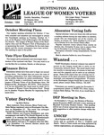LWV Bulletin, October, 1994 by League of Women Voters of the Huntington Area