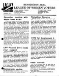 LWV Bulletin, November, 1994 by League of Women Voters of the Huntington Area
