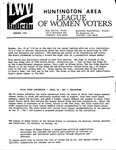 LWV Bulletin, January, 1993 by League of Women Voters of the Huntington Area