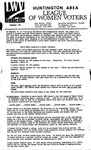 LWV Bulletin, February, 1993 by League of Women Voters of the Huntington Area