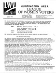 LWV Bulletin, April, 1993 by League of Women Voters of the Huntington Area