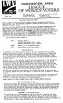 LWV Bulletin, March, 1993 by League of Women Voters of the Huntington Area