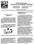 LWV Bulletin, December, 1993 by League of Women Voters of the Huntington Area