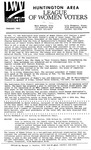 LWV Bulletin, February, 1992 by League of Women Voters of the Huntington Area