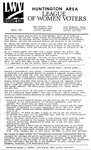 LWV Bulletin, April, 1992 by League of Women Voters of the Huntington Area