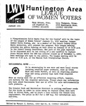 LWV Bulletin, January, 1991 by League of Women Voters of the Huntington Area