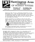 LWV Bulletin, April, 1991 by League of Women Voters of the Huntington Area