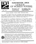 LWV Bulletin, May, 1991 by League of Women Voters of the Huntington Area