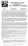 LWV Bulletin, November, 1991 by League of Women Voters of the Huntington Area