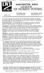LWV Bulletin, January, 1992 by League of Women Voters of the Huntington Area