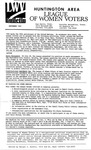 LWV Bulletin, September, 1992 by League of Women Voters of the Huntington Area