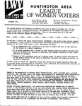 LWV Bulletin, October, 1992 by League of Women Voters of the Huntington Area