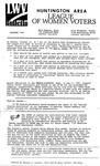 LWV Bulletin, October, 1991 by League of Women Voters of the Huntington Area