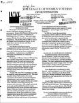 LWV Bulletin, November, 2004