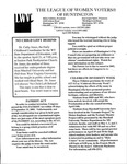 LWV Bulletin, April, 2003 by League of Women Voters of the Huntington Area