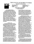 LWV Bulletin, November, 2003 by League of Women Voters of the Huntington Area