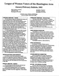 LWV Bulletin, January, 2002 by League of Women Voters of the Huntington Area