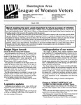 LWV Bulletin, May, 2001 by League of Women Voters of the Huntington Area