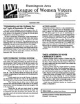 LWV Bulletin, September, 2000 by League of Women Voters of the Huntington Area