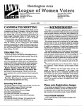 LWV Bulletin, October, 2000 by League of Women Voters of the Huntington Area