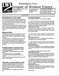 LWV Bulletin, November, 2000 by League of Women Voters of the Huntington Area
