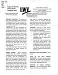 LWV Bulletin, February, 2019