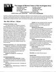 LWV Bulletin, October, 2016