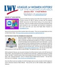 LWV Bulletin, January, 2021 by League of Women Voters of the Huntington Area