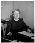 Mae Newman, principal of Huntington High School, 1957