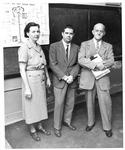 Juanita Stanley, Dale Berry, Mr. Hyldoft, Huntington High School, 1956