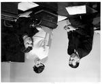 Joe Morris and Tatler newsletter staff, Huntington High School, ca. 1957