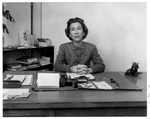 Dean of Women, Boyce Yarbrough, Huntington High School, ca. 1957