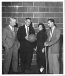 Science teacher Fred Jones,2 unknown, Jack Nichols, Huntington High School,1955