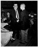 Huntington High School student president Walt Carter (left) and Forrest Jones, 1957