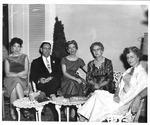 Boyce Yarbrough (center) & other chaperones, Huntington High Snowball Dance,1958