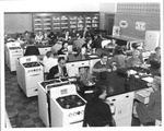 """Faculty Dining Room?"" Huntington High School, 1958"
