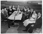 Faculty table at Huntington High School event, 1958
