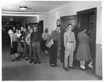 Lunch line, Huntington High School, 1959
