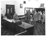 "Huntington High School ""main office at 8:20"", 1959"
