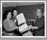 Huntington High School women preparing Christmas presents, 1961