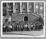 Huntington High School Big Sisters in front of school, 1961